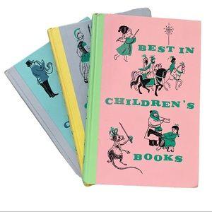 Mid Century Children Books, hard covers, vintage